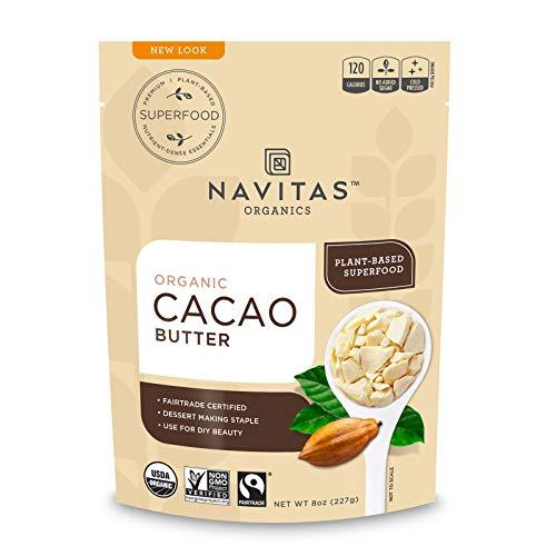 Navitas Organics Cacao Butter, 8oz. Bag - Organic, Non-GMO, Fai...
