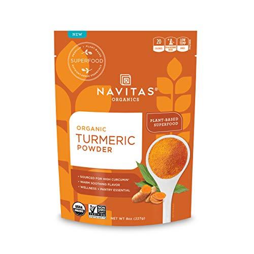 Navitas Organics Turmeric Powder, 8oz. Bag - Organic, Non-GMO, G...