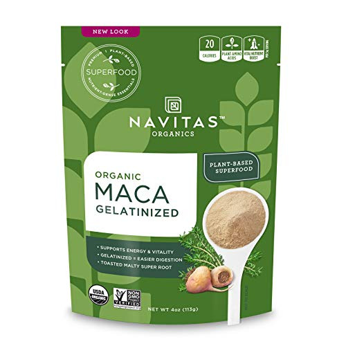 Navitas Organics Maca Gelatinized Powder, 4 oz. Bag — Organic, N...