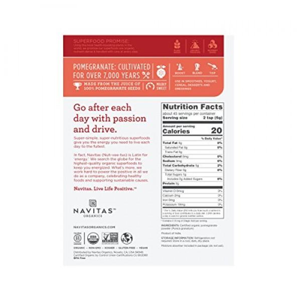Navitas Organics Pomegranate Powder, 8 oz. Bag — Organic, Non-GM...