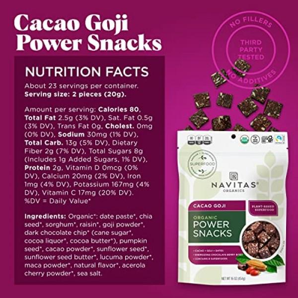 Navitas Organics Superfood Power Snacks, Cacao Goji, 8oz. Bag — ...
