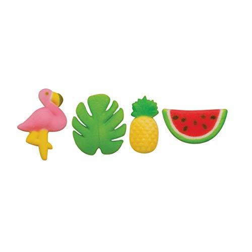 Tropical Summer - Flamingo, Pineapple, Palm Leaf, Watermelon Edi...