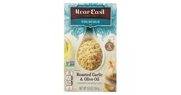 near east roasted garlic  olive oil couscous 12x58 oz