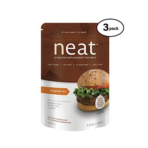 neat - Plant-Based - Original Mix 5.5 oz. Pack of 3 - Non-GM...