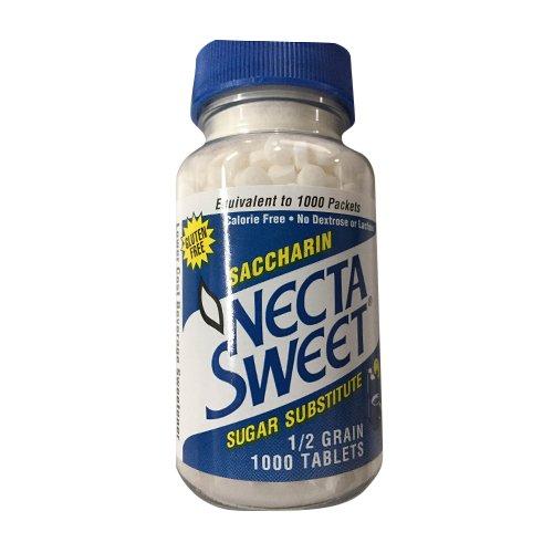 Necta Sweet Sugar Substitute 1/2 Grain 1000 Tablets Pack of 3