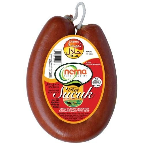 Nema Halal Ring Hot Soudjouk (Acili Sucuk) 16oz