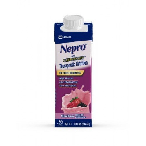 Nepro Complete Nutrition with Carb Steady Mixed Berry Liquid 8o...