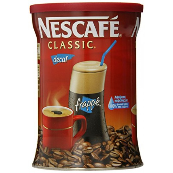 Nescafe Classic Instant Greek Coffee Decaf, 7 Ounce Can
