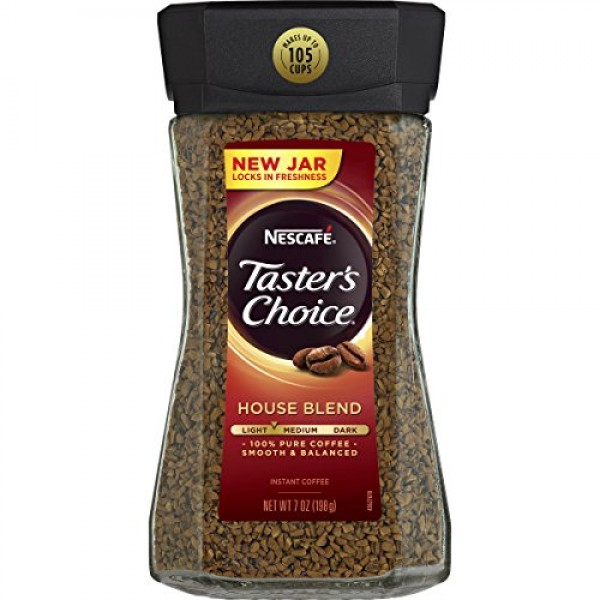 Nescafe Tasters Choice Instant Coffee, House Blend, 7 Ounce