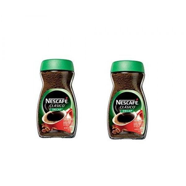 NESCAFE CLASICO Decaf Instant Coffee 7 oz. Jar PACK OF 2