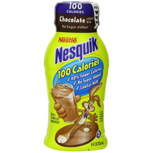 Nestle Nesquik Ready-To-Drink Flavored Milk, 100-Calorie Low Fat...