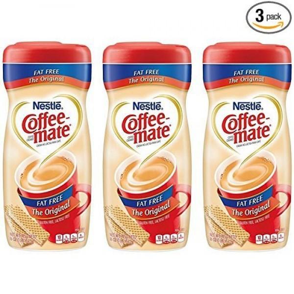 COFFEE-MATE Original Fat Free Powder Coffee Creamer 16 oz. Canis...