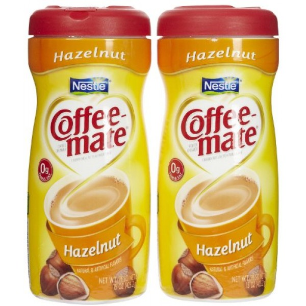 Coffee-mate Powdered Creamer Canisters-Hazelnut, 15 oz, 2 pk