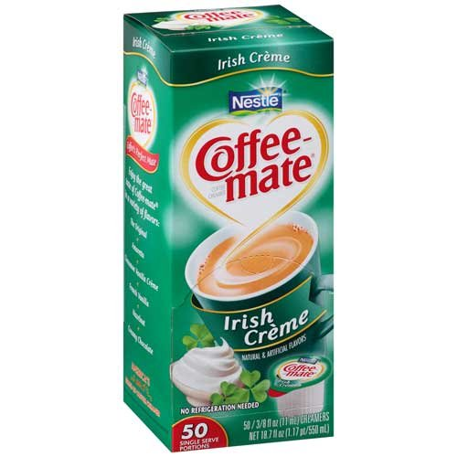 Coffee-Mate Irish Cream Liquid Creamer - 50/0.375 oz. cups per b...