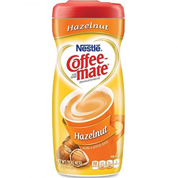 Coffee-Mate Hazelnut Powdered Coffee Creamer 15 oz Pack of 4