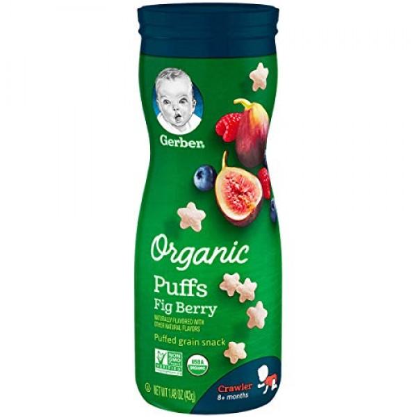 Gerber Organic Puffs, Fig Berry, 1.48 oz