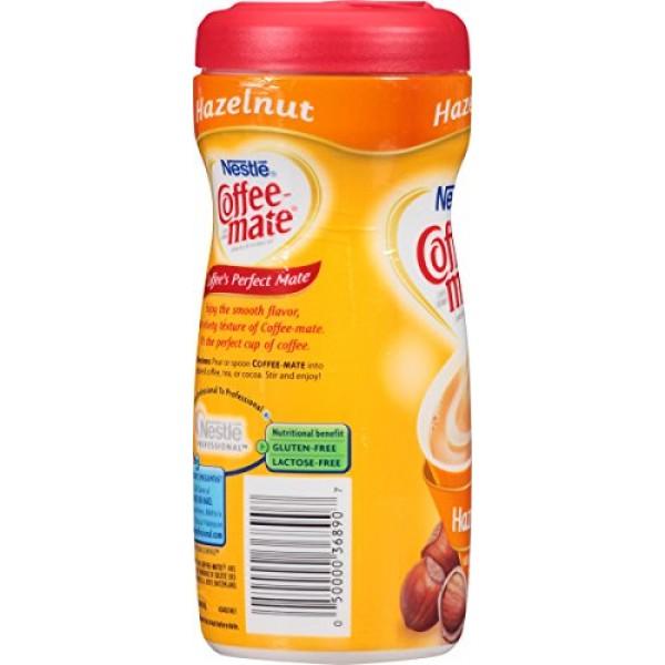 NESTLE COFFEE-MATE Coffee Creamer, Hazelnut 15oz powder creamer,...