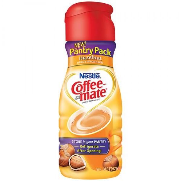 Nestle Coffee-mate Hazelnut Liquid Coffee Creamer 16 oz Pack of 6