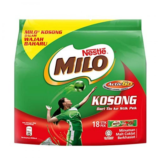 3 Pack Nestle Milo Kosong Sugar Free Activ-Go Chocolate Malt Dri...