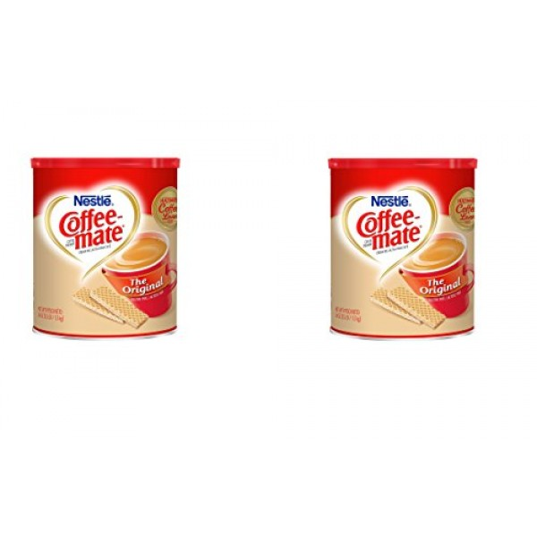 Nestle Coffee-mate Coffee Creamer canister 56 Ounce - 2 Pack