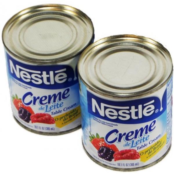 Nestlé - Table Cream - 10.1 fl. Oz. PACK OF 02 | Creme de Leit...