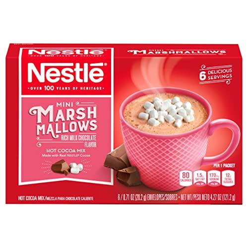 Nestle Hot Cocoa Mix, Mini Marshmallows, 6 ct