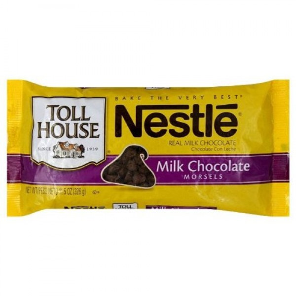 Nestle Toll House Milk Chocolate Morsels, 11.5 Ounce Packages P...