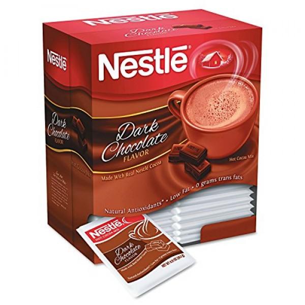 Instant Hot Cocoa Mix, Dark Chocolate, .71oz, 50/Box