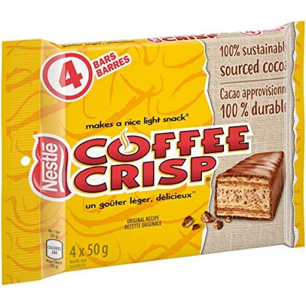 Canada Candy Coffee Crisp Chocolate Bar 4 x 50gram Bars. Importe...