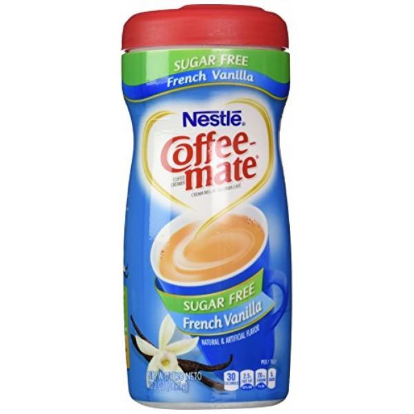 Nestle Coffee-Mate French Vanilla Sugar Free Non-Dairy Coffee Cr...