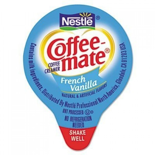 Coffee-mate 35070 Liquid Coffee Creamer, Mini Cups, French Vanil...