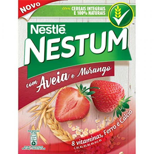 Nestum Cereal with Oats and Strawberries