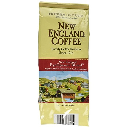 New England Coffee Eyeopener Coffee, Ground 9-ounce Bags Pack o...