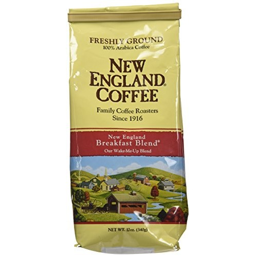 New England Ground Coffee, Breakfast Blend, 12oz Bag Pack of 3