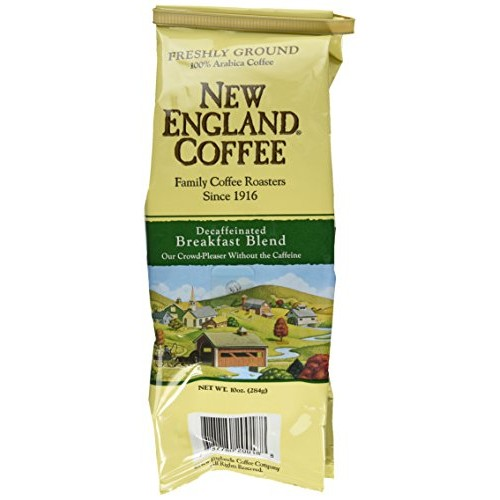 New England Coffee Breakfast Blend Decaf, Ground, 10-ounce Bags ...