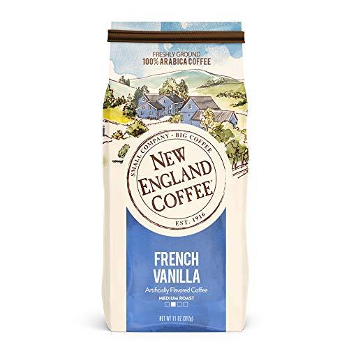 New England Coffee French Vanilla Medium Roast Ground Coffee 11 ...