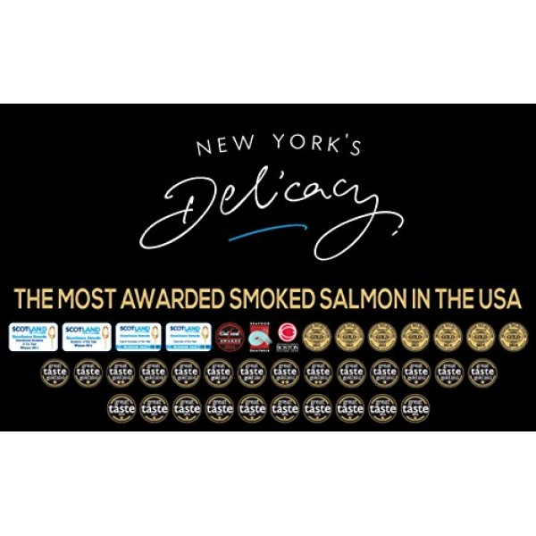 3 x 4 Oz. Most Awarded, Pre-Sliced, Fully Trimmed, Smoked Salmon...