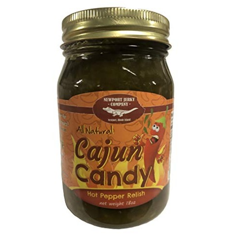 All Natural Cajun Candy Hot Pepper Relish Jalepenos, Onions, Ga...