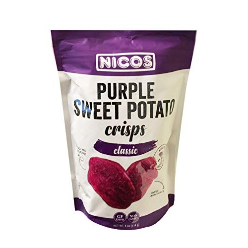 Nicos Non GMO Real Purple Sweet Potato Crisps Chips 4oz, 1 Pack ...