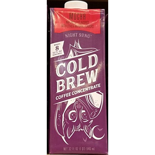 Night Song Cold Brew Mocha Concentrate 32 oz Pack of 3