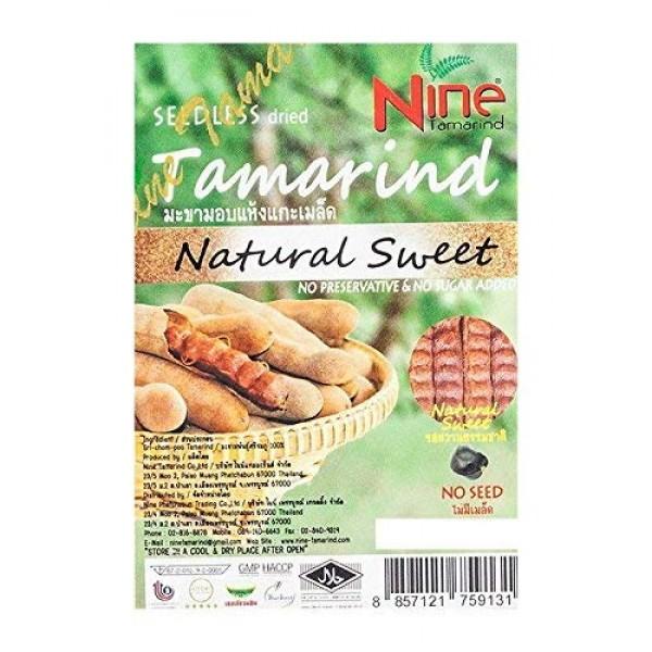 Nine Tamarind Seedless Dried Tamarind Natural Sweet 1 Pack 150...