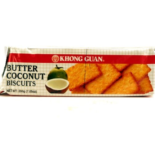 Khong Guan Biscuits Butter Coconut - 7.05oz Pack of 1