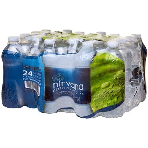 Nirvana Natural Spring Water, 24-Pack of 16.9 oz. Bottles