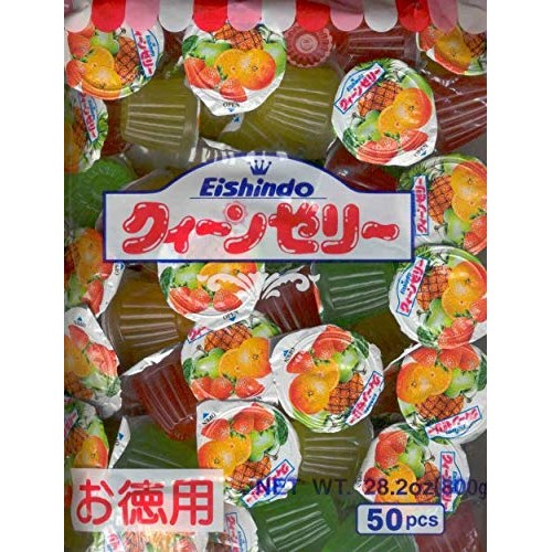 Eishindo Mini Jelly Cups, Assorted Flavors, 50x16 Grams/800 Gram...