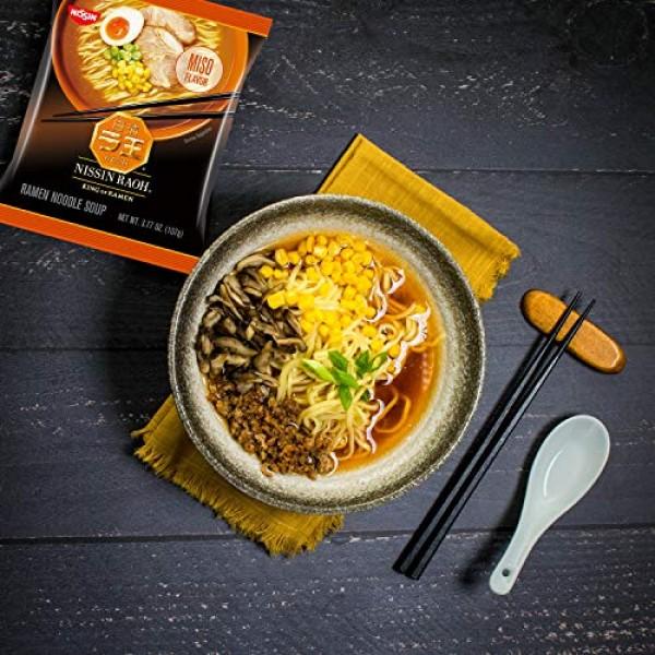 Nissin RAOH, Miso Flavor, Authentic Japanese-Style Ramen, 3.77oz...