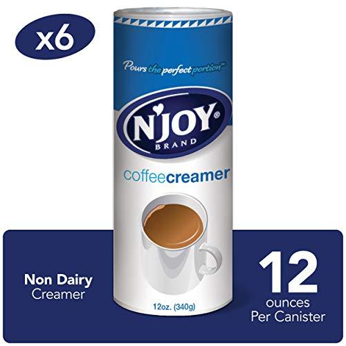 NJoy Coffee Creamer, 12 Ounce Pack of 6 - Non-Dairy, Easy Pou...