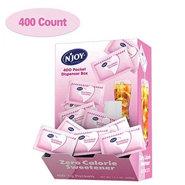 NJoy Zero Calorie Sweetener, Pink Saccharin Packets, Kosher, Gl...