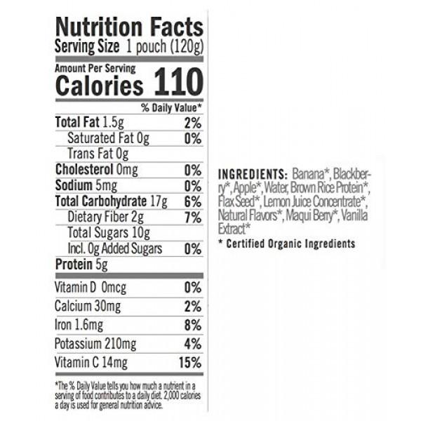 NOKA Superfood Pouches Blackberry Vanilla 6 Pack | 100% Organi...