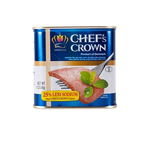 Tulip Chef's Crown 25% Less Sodium Luncheon Meat Ham, Produce of...