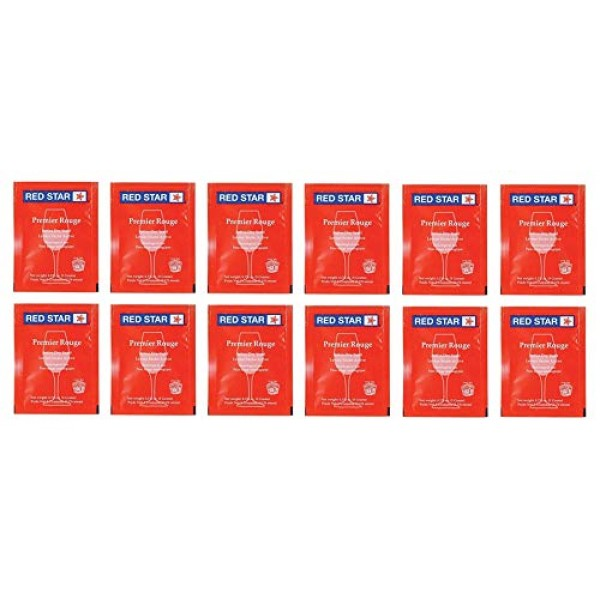 Red Star Premier Rouge Wine Yeast - Pack of 12 - With North Moun...